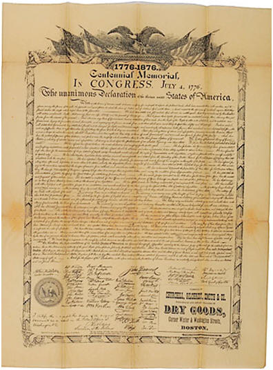 History of declaration of independence centennial copy publicscrutiny Gallery